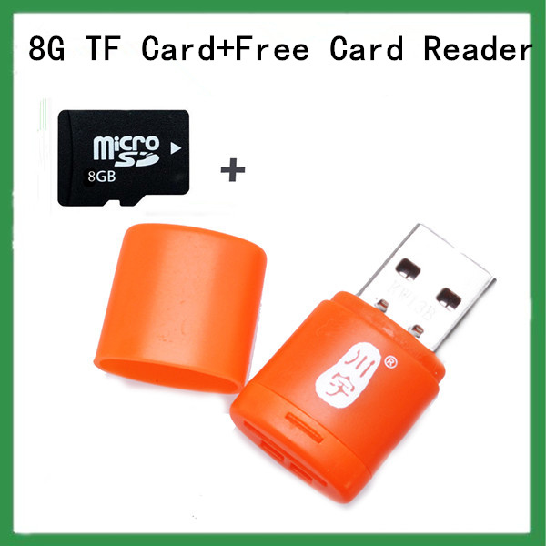 Best quantlity!New 2014 brand Micro SD card 8GB class 4 Memory card 8GB Pen drive Flash tf card+ Micro SD card reader gift(China (Mainland))