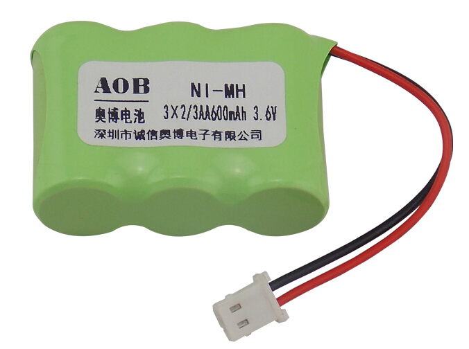 free shipping 2/3AA 600mAh 3.6V NiMH rechargeable battery pack Gigaset cordless phone battery(China (Mainland))