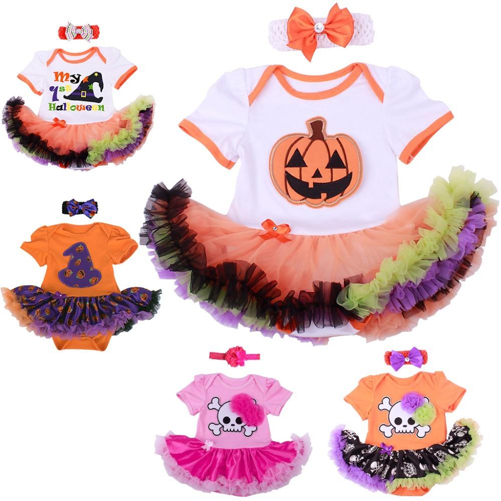Baby Girl Halloween Clothes Tutu Romper Dress Jumpersuit