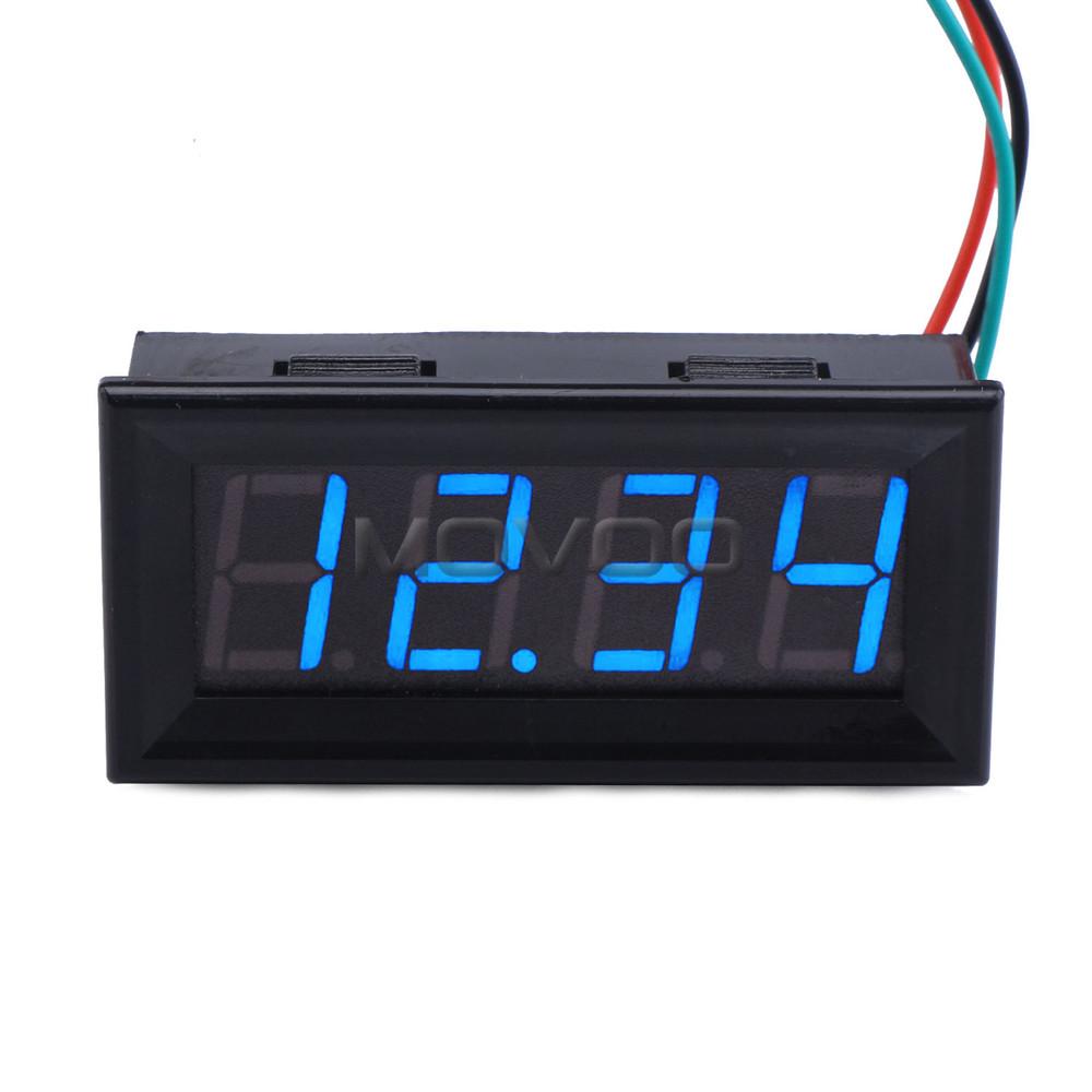 Dc Digital Voltage Meter : Digital volt meter dc v blue led display voltage