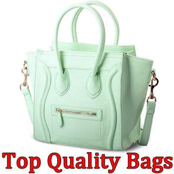 free shipping handbag designer names high quality women's fashion smile tote ladies Pu leather bag(China (Mainland))