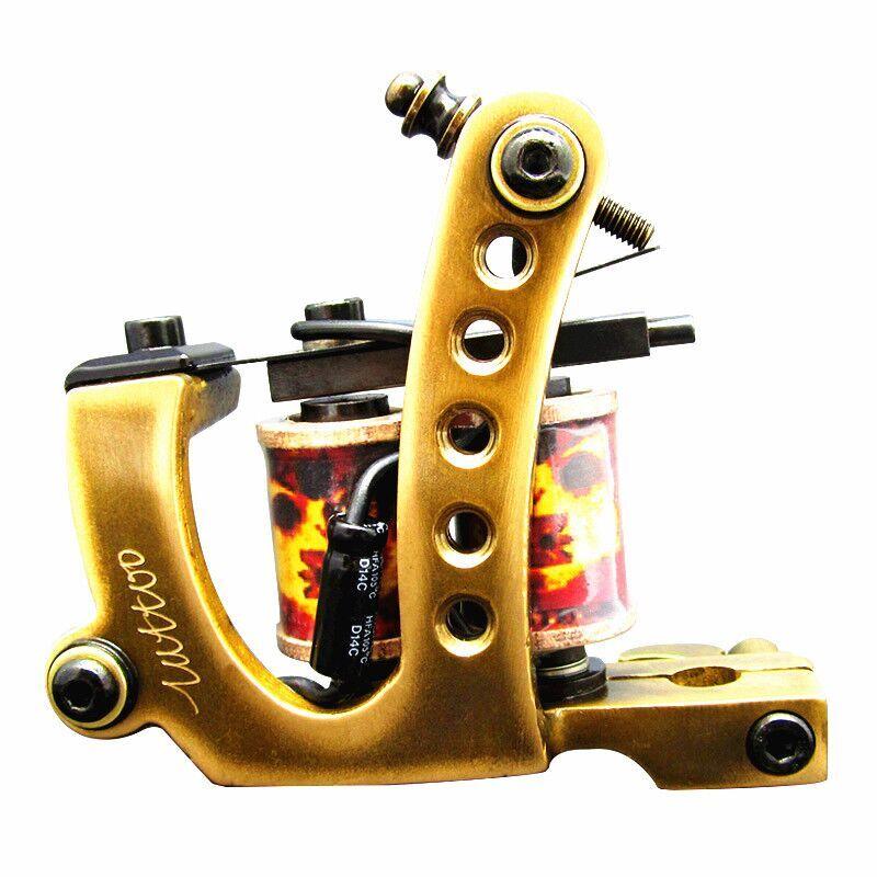 professional brass wire 10 wraps shader manual handmade Cast iron brass frame Tattoo Machine Gun<br><br>Aliexpress