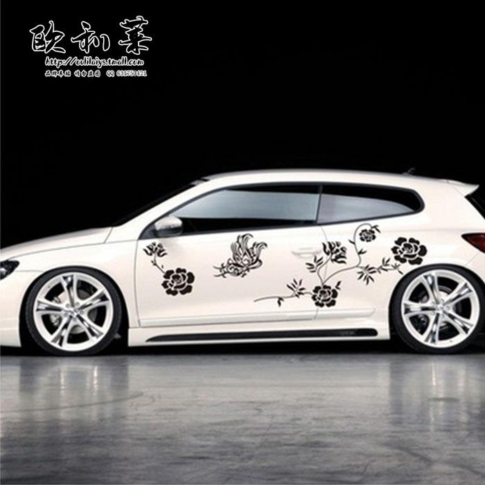 Flower vine car body door stickers car garland coincidentally applique car sticker car decoration<br><br>Aliexpress