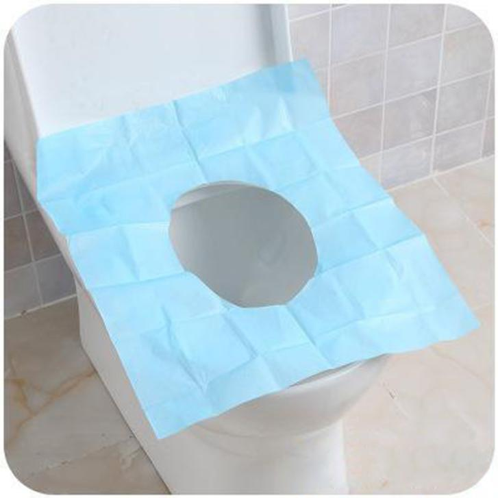 2015 New 10Pcs Lot Disposable Paper Toilet Seat Covers Camping Festival Trave