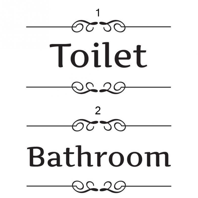 Popular bathroom door decal buy cheap bathroom door decal for Decoration porte sticker