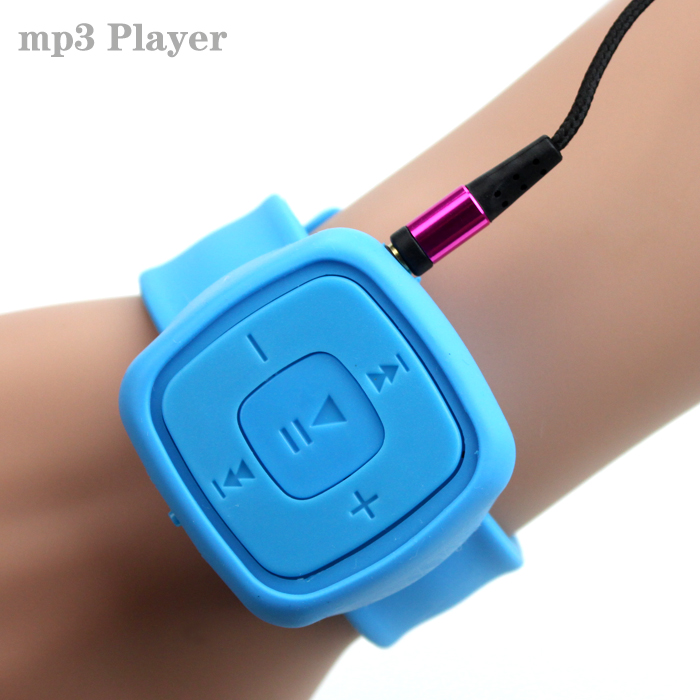 Hot Sell Gift Sport Mini watches Mp3 Player Portable Music Player With Micro TF Card Slot (MP3 ONLY) Can Use As USB Flash Dish(China (Mainland))