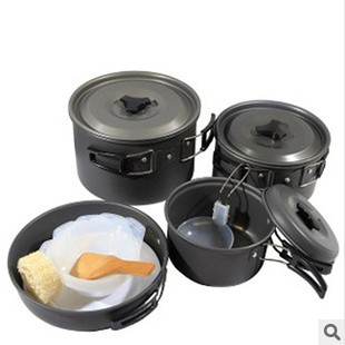 Portable aluminum pot cookware cookware outdoor cookware people with bowls of rice spoon 4-5<br><br>Aliexpress