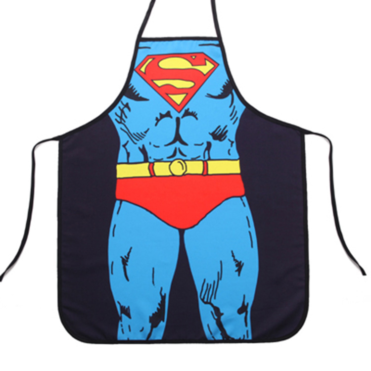 Men and women heroes union maid spider man Superman apron personality FUNNY NOVELTY lovers(China (Mainland))