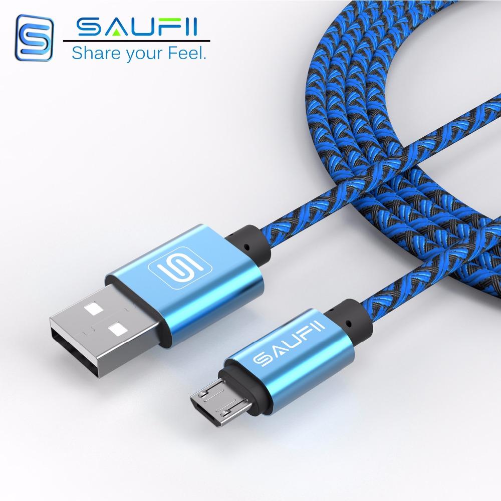Saufii 1m 2m 28 cm Nylon braided Line and Metal Plug Micro USB Cable for iPhone 6 6s Plus 5s iPadmini / Samsung / Sony / HTC(China (Mainland))