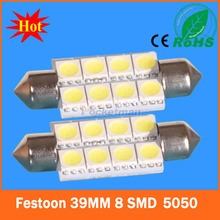 2PCS/LOT led light festoon C5W 8SMD 8 leds 5050 31MM 36MM 39MM 42MM Auto led light FREE SHIPPING(China (Mainland))