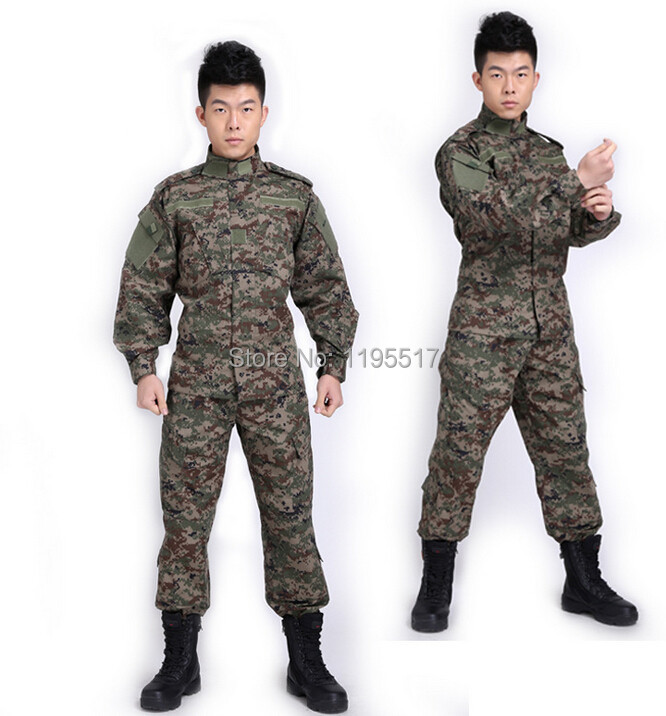 RUSSIAN camouflage military uniform+free shipping(China (Mainland))