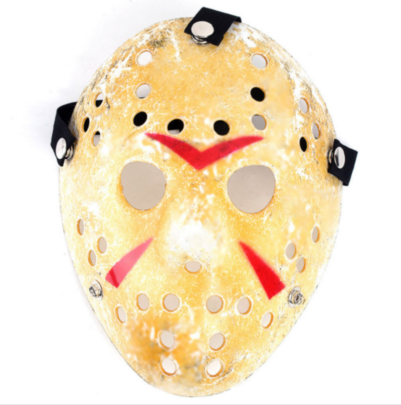 New Gold 11 colors Vintage Party Masks Delicated Jason Voorhees Freddy Hockey Festival Halloween Masquerade Mask Free Shipping(China (Mainland))