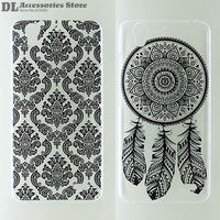 Case For Huawei G630 Black White Hollow Out Texture Coloured Drawing Phone Cover for Huawei G630 Fashion Plastic Hard Phone Case