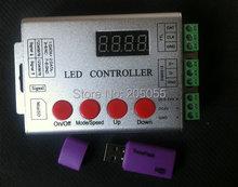 Wireless sd-karte pixel programmierbare FÜHRTE vollfarbig digital controller 5-24 V für WS2811 ws2801 LPD8806 WS2812 DMX led-streifen(China (Mainland))