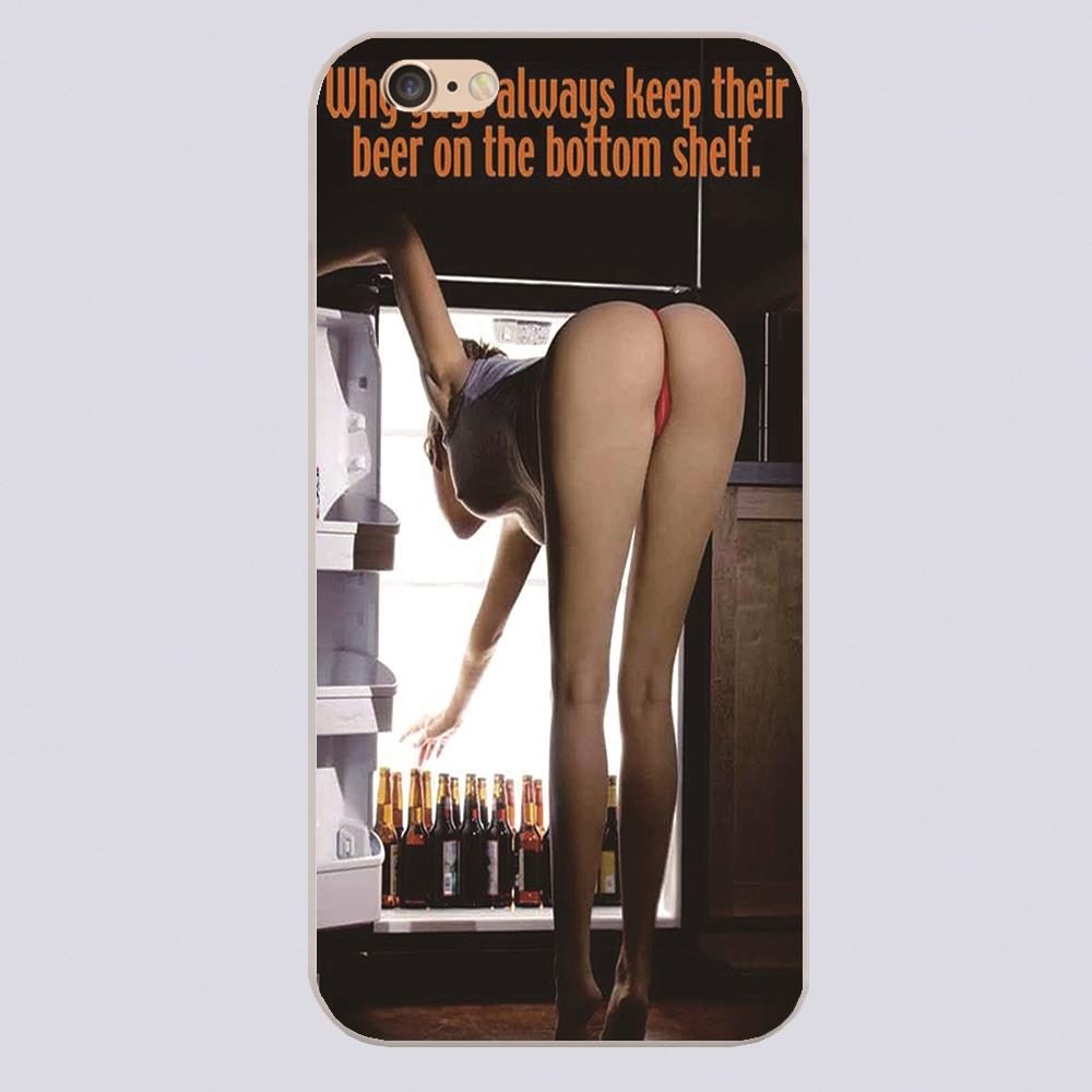 Why gus always keep their beer on the botton shelf sexy lady Design black skin phone cover cases for iphone 4 5 5c 5s 6 6s 6plus(China (Mainland))