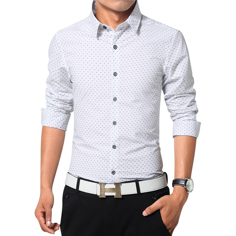 Top Quality Men Dress Shirts Long Sleeve Shirts Size M 3xl