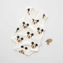2016 Summer  New Born Baby  Jumpsuits  baby Clothes Boys and Girls Cute Cartoon Outerwear Baby Sleeveless Vest 0-1 year Old (China (Mainland))
