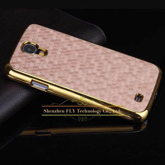 2015 NEW ! Business Style Gold Frame Luxury Back Cover Cross Pattern Case For Samsung Galaxy S4 i9500 mobile phone Hard Cover(China (Mainland))