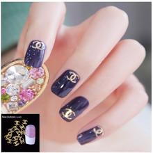 100Pcs/Pack 3D Nail Art Decorations 18 Model Plated Sheet Nails For Glitter Charms DIY Nail Tools Logo Pentagram Snowflake Pine