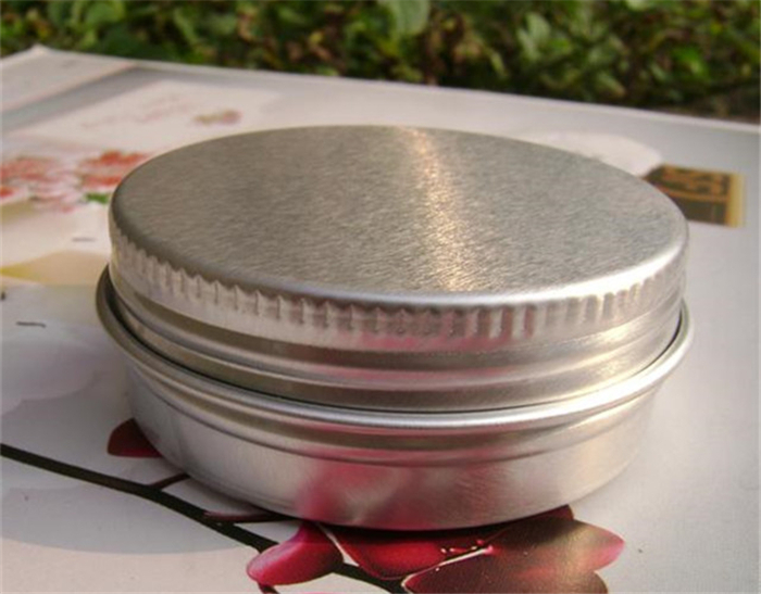 30g Cosmetic Lip Blam Bottle Eye Cream Wax Sample Containers Empty Refillable Aluminum Jar Free Shipping(China (Mainland))