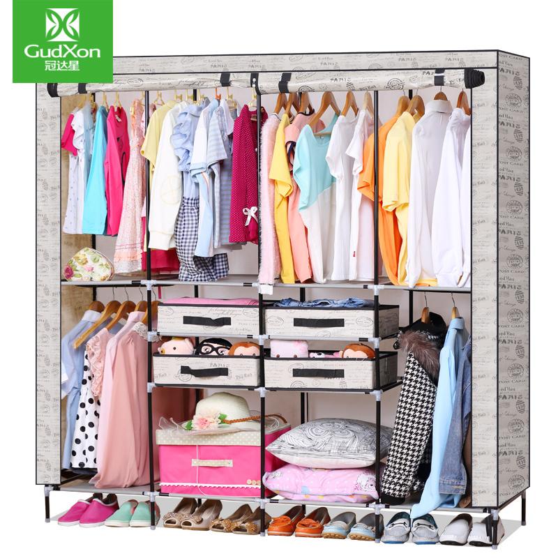 GDX wardrobe simple wardrobe cloth wardrobe reinforcing combination sent four drawers Y(China (Mainland))