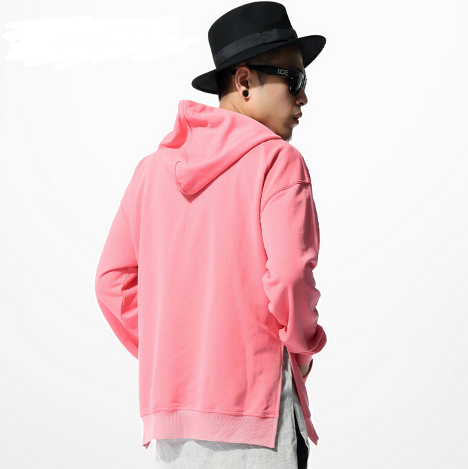 Men Pink Hoodie - Trendy Clothes