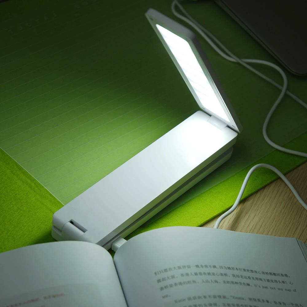 16pcs LEDs USB Rechargable Reading Desk Lamp Folding Foldable Portable Table Light for Study Home Office Reading Protect Eyes(China (Mainland))