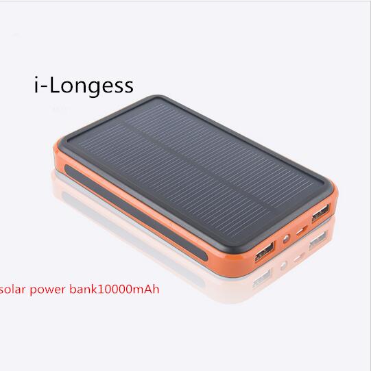 New waterproof Solar Power Bank 9800mAh Backup Bateria Externa Dual USB with LED Light for iPhone4s Powerbank free shipping(China (Mainland))