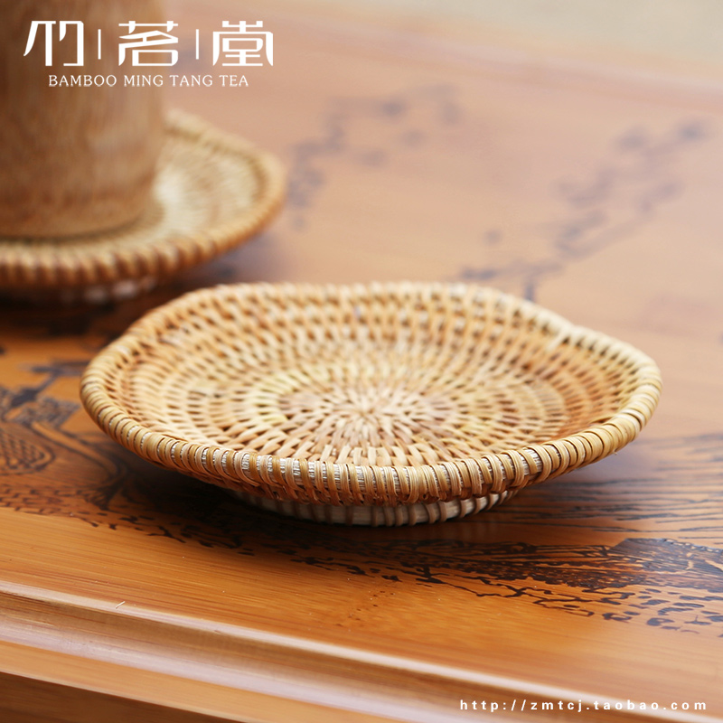 Plum shaped rattan tea tea Pad Coaster Vietnam six noble iron pot pot insulation pad set teapot holder<br><br>Aliexpress