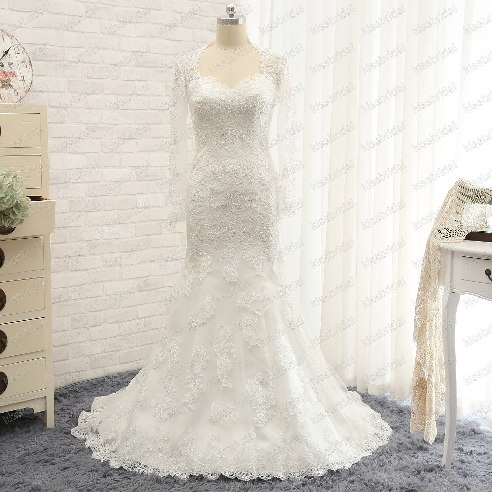 Lace Mermaid Wedding Dress Long Train : Dress tight picture more detailed about romantic