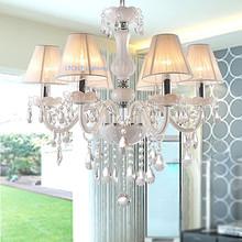 Moderno lampadario di cristallo k9 110 ~ 240 v lustri de cristal lampadario per soggiorno o camera da letto illuminazione lustro para sala(China (Mainland))