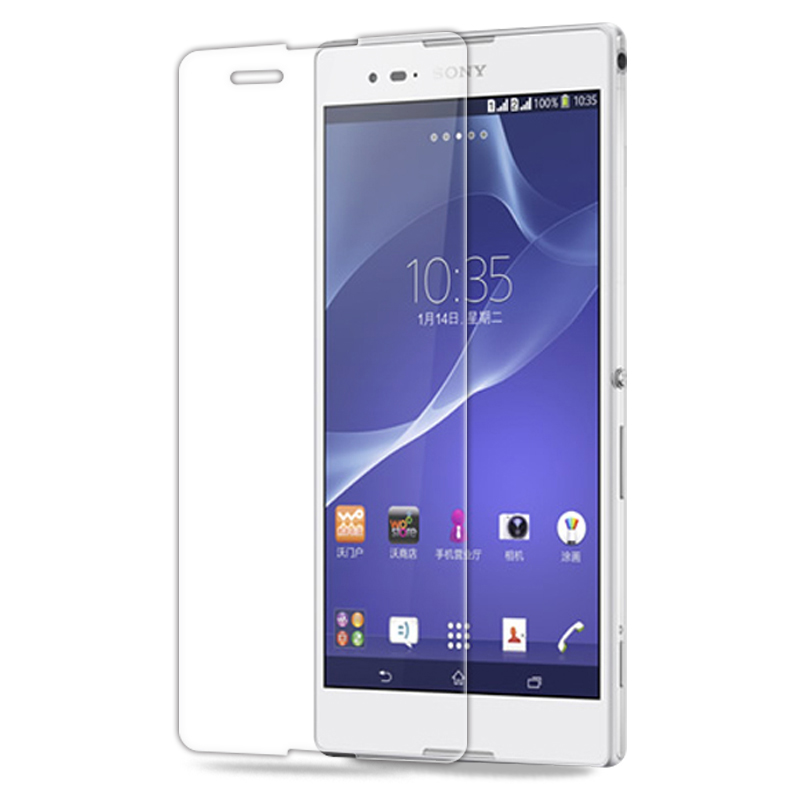 0.3mm Tempered Glass Film for Sony Xperia T2 T3 C3 C4 E3 E4 2.5D High Transparent Screen Protector Film with Clean Tools(China (Mainland))
