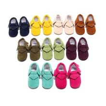 5Size 9Colors Newborn Baby PU Leather Suede Moccasins Soft Shoes Infant Toddler Girl Boy Children First Walkers Shoes Footwear(China (Mainland))