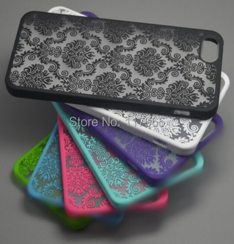 """For Apple iPhone 4 4S 3.5"""" 5 5S 5G 4.0"""" Rubberized Protector Damask Vintage Multicolor black white Pattern Hard Case Cover EC127(China (Mainland))"""