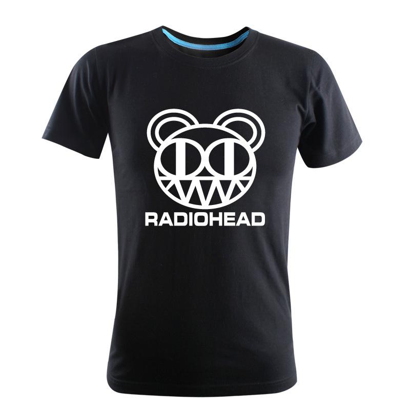 2015-100% Cotton Men's Summer fashion High Quality Rock Band of RADIOHEAD printing Short Sleeves T-Shirt(China (Mainland))