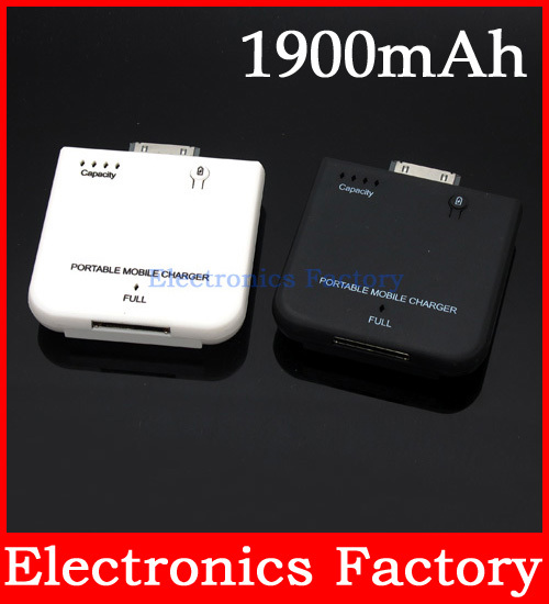1900mAh Portable External Mobile Backup Power Battery Charger for iPhone 4 4G 4S 3G 3GS iPod(China (Mainland))