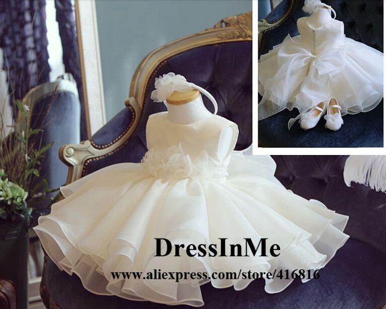 Robe de fille de fleur Ivoire dentelle blanche robe Robe