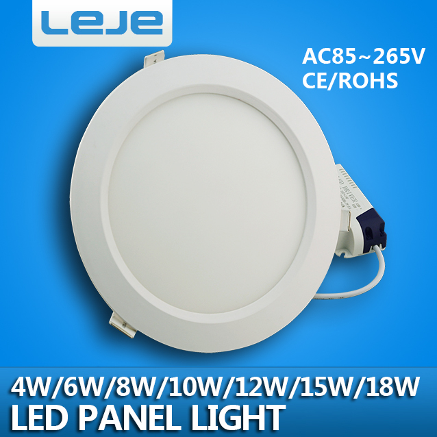 Ultra thin led down light lamp 4w 6w 8w10w 12w 15w 18w led ceiling recessed grid downlight slim round panel light free shipping(China (Mainland))