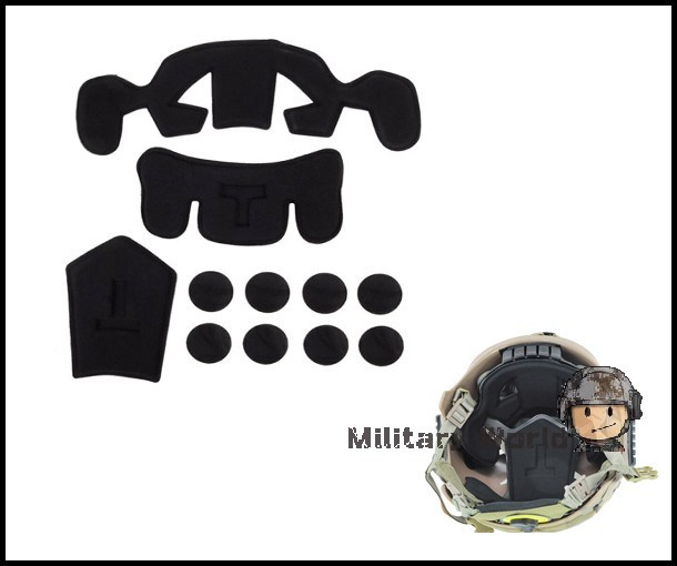 2pcs/lot Airsoft Tactical Protector Pad For EXF Style Fast Jump Military Army Combat Helmet Accessory Accessories(China (Mainland))