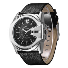 Para hombre marca moda casual hombres de reloj relojes de cuarzo para hombre reloj temperamento de alto grado de oro shell