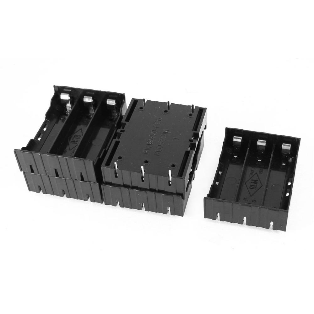 Гаджет  5 Pcs Black Plastic 3 x 3.7V 18650 Batteries 6 Pin Battery Holder Case None Бытовая электроника