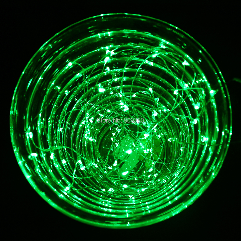 Starry String Lights Outdoor : 33FT 100 LED Outdoor Christmas Fairy Lights Green Copper Wire LED Starry Lights DC 12V LED ...