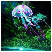 "5.5"" Glowing Effect Artificial Jellyfish Fish Tank Aquarium Decoration Ornament(China (Mainland))"