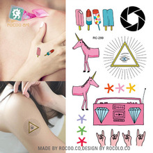 2016 Rushed New Arrival Sell Small Fresh Cute Elements Of The Same Pattern Of Male And Female Waterproof Tattoo Stickers Rc2299