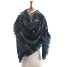 Christmas Unisex Women Men Warm Blanket Large Oversized Tartan Scarf Wrap Shawl Bufandas Plaid Cozy Checked Pashmina Scarves