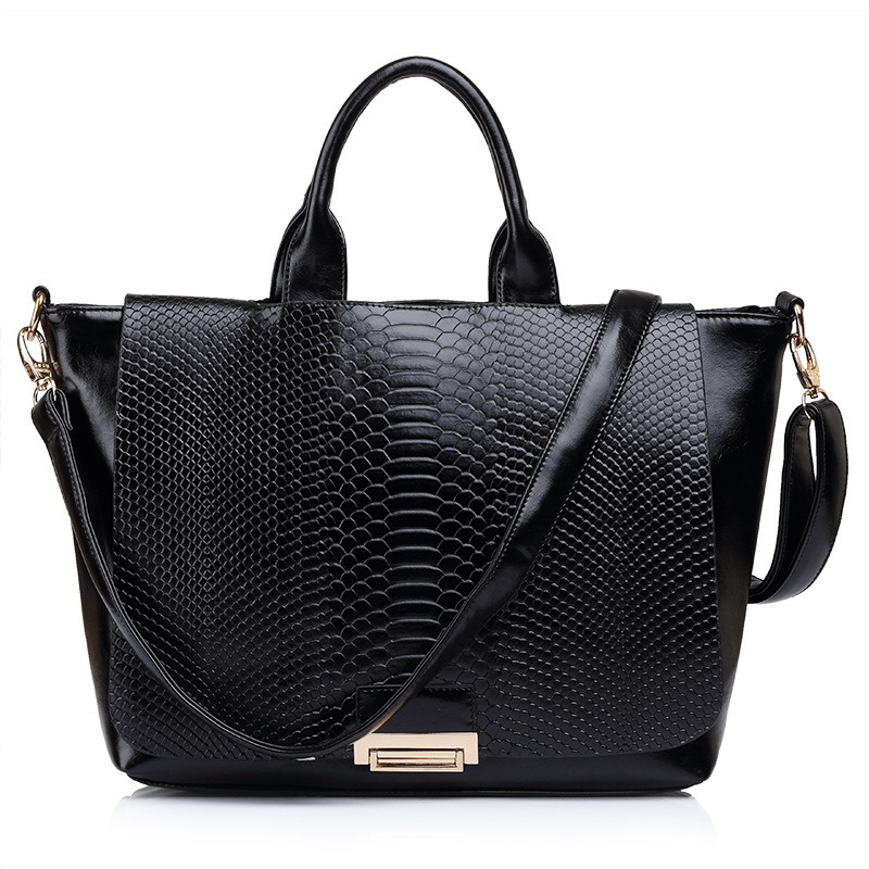 Fashion retro CROCO Snake pattern desigual bag genuine PU Patent Leather tote women handbags Lady Gift shoulder Crossbody bags(China (Mainland))