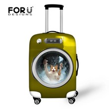 Fashion Stylish Animal Protective Waterproof Luggage Cover for Travel 18-30 inch Trolley Suitcase Elastic Dust Rain Cute Cover(China (Mainland))