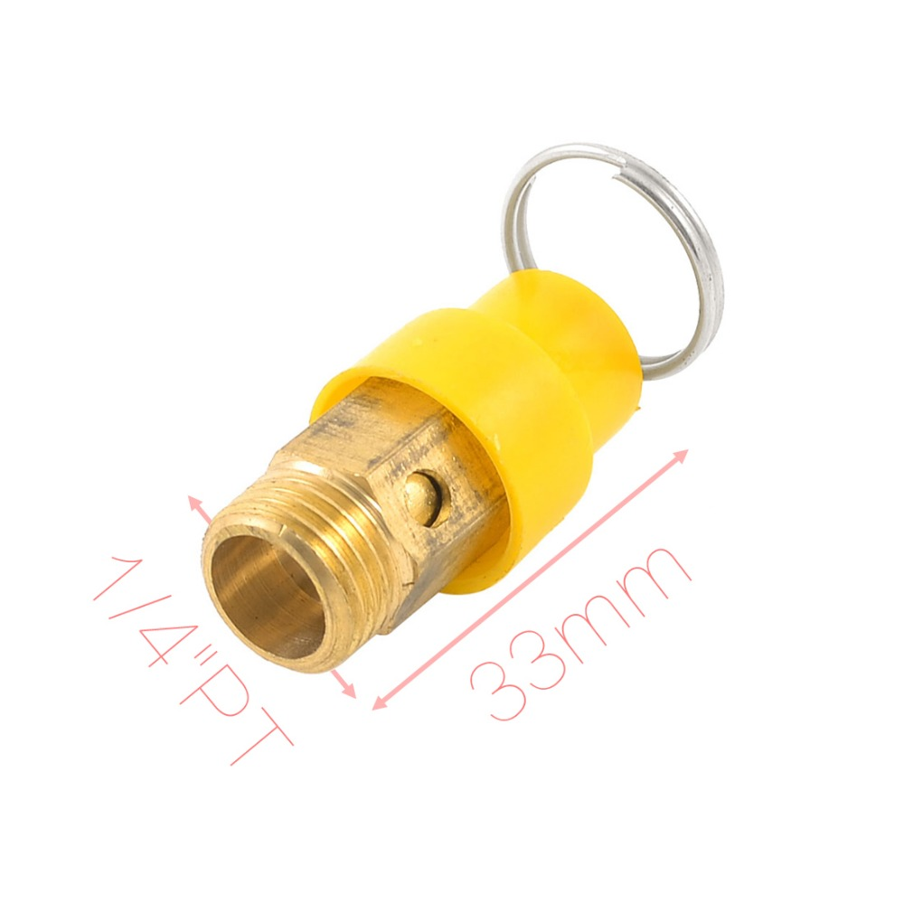 """1/4""""PT Male Threaded Air Compressor Pressure Relief Valve w Split Ring Discount 50(China (Mainland))"""