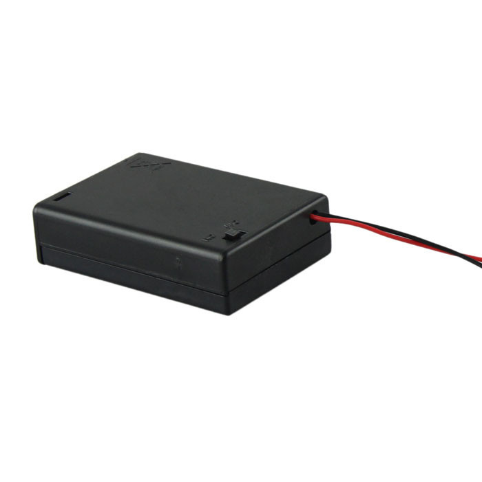 2016 New 1Pcs 3 AA 2A Battery 4.5V Holder Box Case With Switch Lead High Quality Box Power Transfer Standard(China (Mainland))