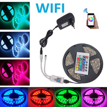 Wifi 10M 15M 20M 5M RGB LED Strip DC12V LED strip Light 5050 SMD Fita Led Neon Ribbon tape with Wifi controller(China (Mainland))